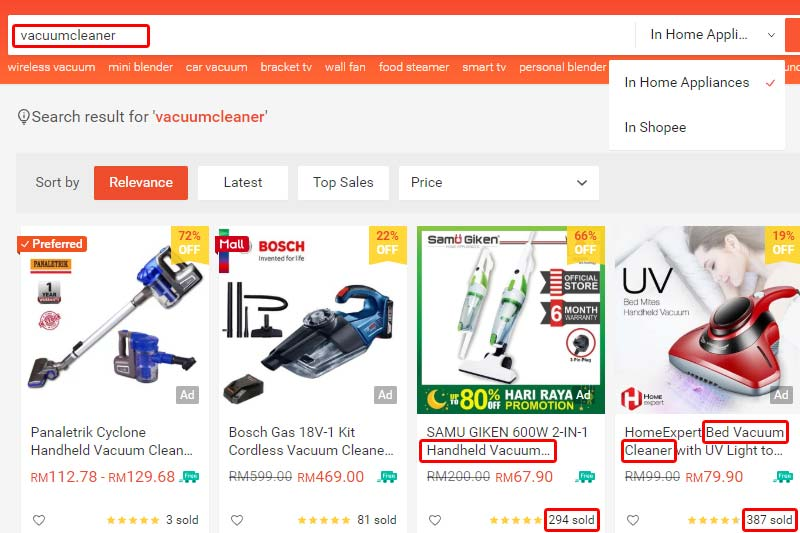 Shopee Search
